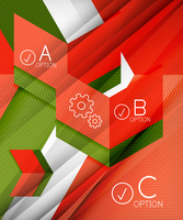 Infographic abstract background made of geometric shapes