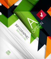 Infographic abstract background - arrow geometric shape. For business presentation | technology | web design