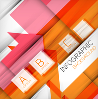 Infographic abstract background - arrow geometric shape. For business presentation | technology | web design 60016034878| 写真素材・ストックフォト・画像・イラスト素材|アマナイメージズ