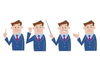男性ビジネスマン 指差し プレゼン 60017000006| 写真素材・ストックフォト・画像・イラスト素材|アマナイメージズ