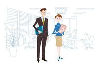 オフィスのビジネスマンとビジネスウーマン 60017000023| 写真素材・ストックフォト・画像・イラスト素材|アマナイメージズ