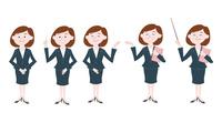 ビジネスウーマン 表情バリエーション プレゼン 60017000029| 写真素材・ストックフォト・画像・イラスト素材|アマナイメージズ