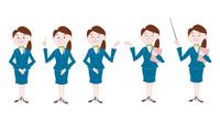 ビジネスウーマン 表情バリエーション プレゼン 60017000031| 写真素材・ストックフォト・画像・イラスト素材|アマナイメージズ