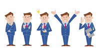 ビジネスマン 表情バリエーション 60017000032| 写真素材・ストックフォト・画像・イラスト素材|アマナイメージズ