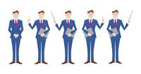ビジネスマン 表情バリエーション プレゼン 60017000040| 写真素材・ストックフォト・画像・イラスト素材|アマナイメージズ