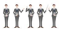 ビジネスマン 表情バリエーション プレゼン 60017000043| 写真素材・ストックフォト・画像・イラスト素材|アマナイメージズ