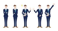 ビジネスマン 表情バリエーション 60017000044| 写真素材・ストックフォト・画像・イラスト素材|アマナイメージズ