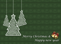 The illustration of Christmas decoration and Christmas pattern