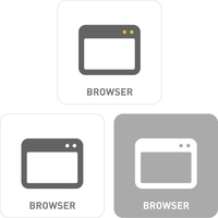 Browser Pictogram Icons
