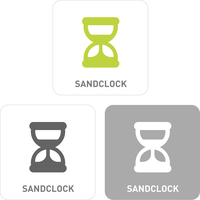 Sand glass Pictogram Icons