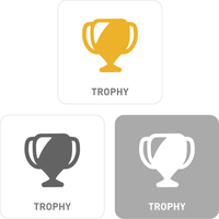Trophy Pictogram Icons