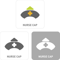 Nurse hat Pictogram Icons