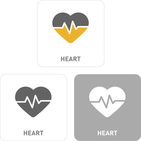 Heart Pictogram Icons