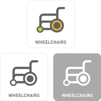 Wheelchair Pictogram Icons  60018001092| 写真素材・ストックフォト・画像・イラスト素材|アマナイメージズ