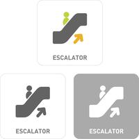 Escalator Pictogram Icons