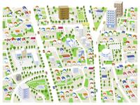 街・住宅街・地図 60025000001  写真素材・ストックフォト・画像・イラスト素材 アマナイメージズ
