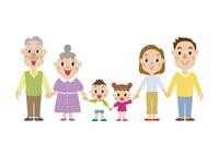 手をつなぐ三世代家族 60029000001| 写真素材・ストックフォト・画像・イラスト素材|アマナイメージズ