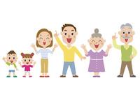 解決して喜ぶ三世代家族 60029000003| 写真素材・ストックフォト・画像・イラスト素材|アマナイメージズ