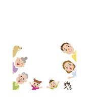 三世代家族枠 60029000005| 写真素材・ストックフォト・画像・イラスト素材|アマナイメージズ