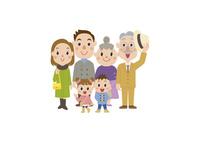 冬服で外出する三世代家族 60029000012| 写真素材・ストックフォト・画像・イラスト素材|アマナイメージズ