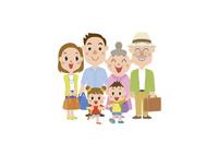 旅行に出かける三世代家族 60029000013| 写真素材・ストックフォト・画像・イラスト素材|アマナイメージズ