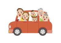 ドライブに出かける三世代家族 60029000018| 写真素材・ストックフォト・画像・イラスト素材|アマナイメージズ