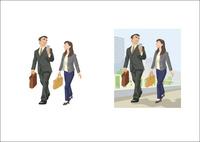 クライアントに連絡をとる上司と部下 60030000001| 写真素材・ストックフォト・画像・イラスト素材|アマナイメージズ