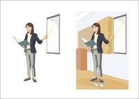新しい提案をプレゼンテーションしているビジネスウーマン 60030000002| 写真素材・ストックフォト・画像・イラスト素材|アマナイメージズ