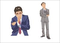 悩んだり考え事をしている男性 60030000006| 写真素材・ストックフォト・画像・イラスト素材|アマナイメージズ