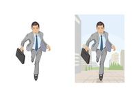 社会人として走りだした若手ビジネスマン 60030000007| 写真素材・ストックフォト・画像・イラスト素材|アマナイメージズ
