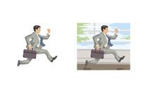 約束の時間に向かって走るビジネスマン 60030000008| 写真素材・ストックフォト・画像・イラスト素材|アマナイメージズ