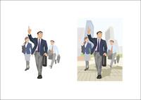 部下と外回りをするビジネスマン 60030000011| 写真素材・ストックフォト・画像・イラスト素材|アマナイメージズ