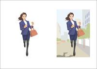 颯爽と走る女性ビジネスウーマン 60030000019| 写真素材・ストックフォト・画像・イラスト素材|アマナイメージズ