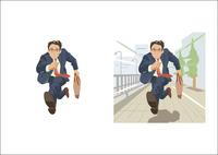 急いで走っているやる気あふれる若手ビジネスマン 60030000022| 写真素材・ストックフォト・画像・イラスト素材|アマナイメージズ