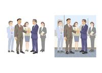 取引先と契約が成立して握手をする営業マン 60030000026| 写真素材・ストックフォト・画像・イラスト素材|アマナイメージズ