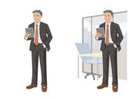 タブレットを見ながら談笑するビジネスマン 60030000036| 写真素材・ストックフォト・画像・イラスト素材|アマナイメージズ