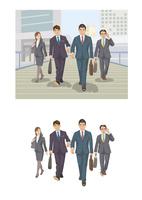 新しい取引先に向かい歩き続けるビジネスマン