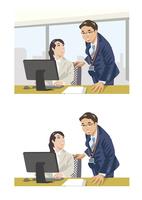 上司にアドバイスを受ける新入社員
