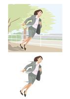 急いで次の仕事場へ向かうビジネスウーマン 60030000046| 写真素材・ストックフォト・画像・イラスト素材|アマナイメージズ