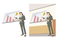 会社の成果について説明している女性社員 60030000047| 写真素材・ストックフォト・画像・イラスト素材|アマナイメージズ