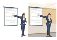 新事業のプレゼンテーションをしている女性社員 60030000048| 写真素材・ストックフォト・画像・イラスト素材|アマナイメージズ