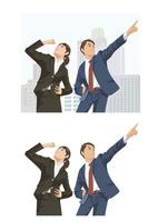 明るい将来に向かって決意を固めた新入社員たち 60030000049| 写真素材・ストックフォト・画像・イラスト素材|アマナイメージズ