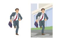 急いで次の仕事場へ向かうビジネスマン 60030000051| 写真素材・ストックフォト・画像・イラスト素材|アマナイメージズ