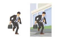急いで次の仕事場へ向かうビジネスマン 60030000052| 写真素材・ストックフォト・画像・イラスト素材|アマナイメージズ