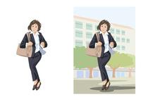 颯爽と次の仕事場へ向かうビジネスウーマン 60030000054| 写真素材・ストックフォト・画像・イラスト素材|アマナイメージズ