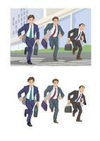 それぞれの取引先に向かうビジネスマンたち 60030000055| 写真素材・ストックフォト・画像・イラスト素材|アマナイメージズ