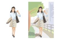 仕事先へ足早で向かうビジネスウーマン 60030000064| 写真素材・ストックフォト・画像・イラスト素材|アマナイメージズ