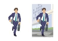 急いで次の仕事場へ向かうビジネスマン 60030000065| 写真素材・ストックフォト・画像・イラスト素材|アマナイメージズ