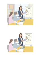 新しいシステムについて説明している女性社員 60030000066| 写真素材・ストックフォト・画像・イラスト素材|アマナイメージズ