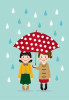今日は雨ふり